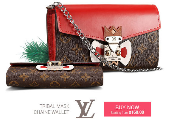 Replica LV Tribal Mask Chaine Wallet